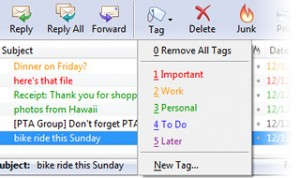Tags messages
