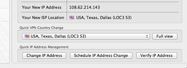 HideMyAss Change IP Address