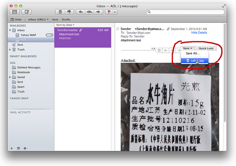 Delete Attchments in Apple Mail