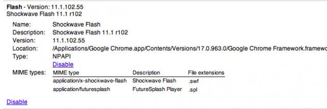 The following plug-in has crashed: Shockwave Flash - Chrome