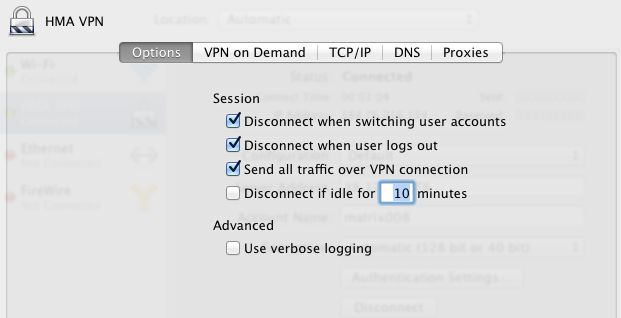 setup VPN on Mac adeepbite.com send all traffic over VPN connection