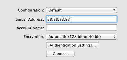 setup VPN on Mac server address adeepbite.com