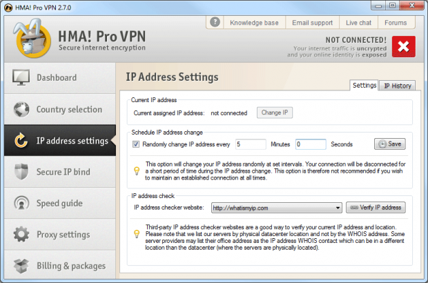 randomly change ip address