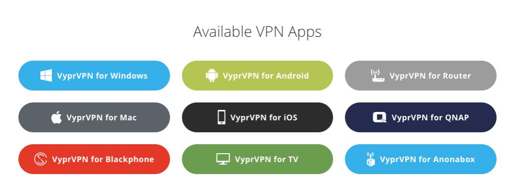 VyprVPN Platforms